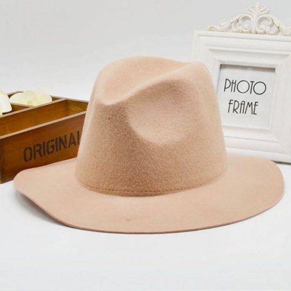 f90bf2e4 Hot Selling Vintage Ladies Floppy Wide Brim Flannel Felt Fedora Hat -  Loluxe - 5