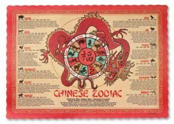 Chinese Zodiac Paper Placemats Chinese Zodiac Zodiac Placemats