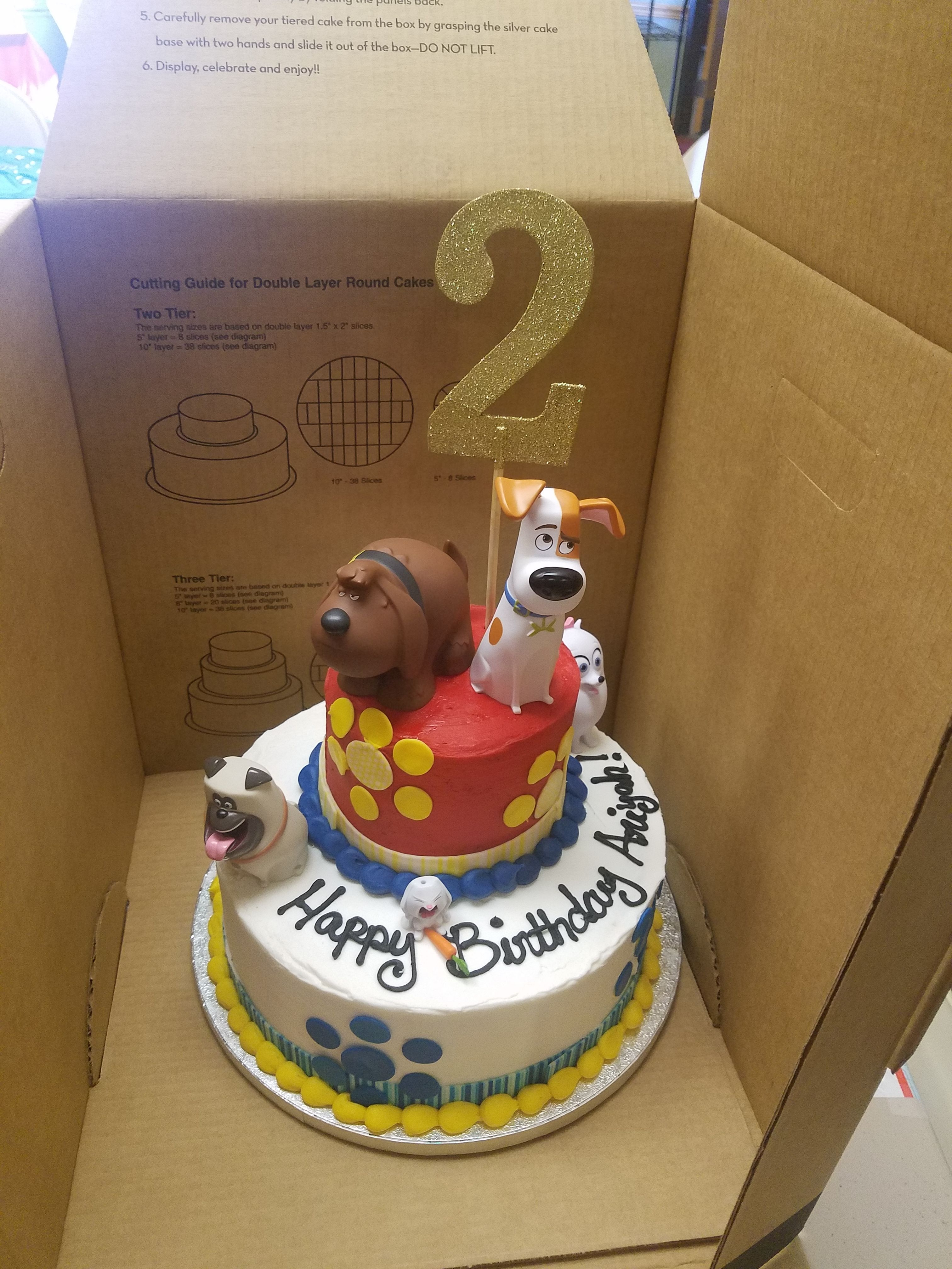 Secret Life Of Pets Cake Cake Party Cakes Birthday Party Cake