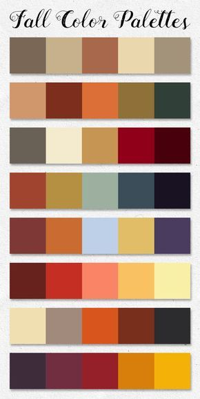 Free download ~ Fall Color Palettes ~ courtesy of hgdesigns.co #autumncolorpalette