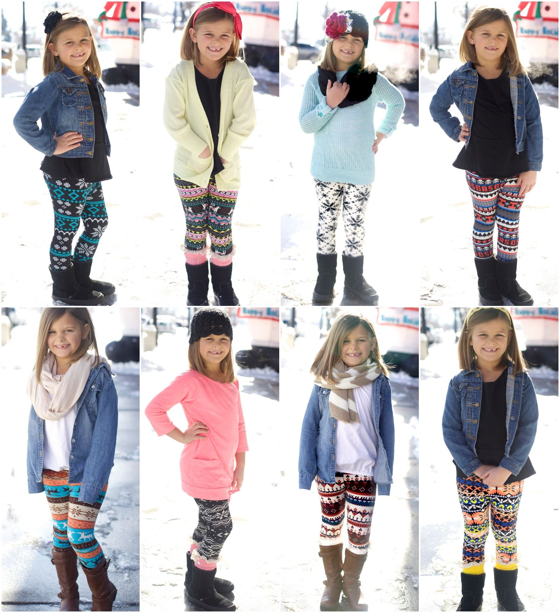 0af76a6b389e4 Little girl leggings/outfits! 48 Cute Winter Outfits for Keep of Children  Warm