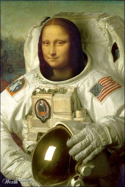Beliebt Mona Lisa au coté de Neil Armstrong pour atterrir sur | Fine  JD73