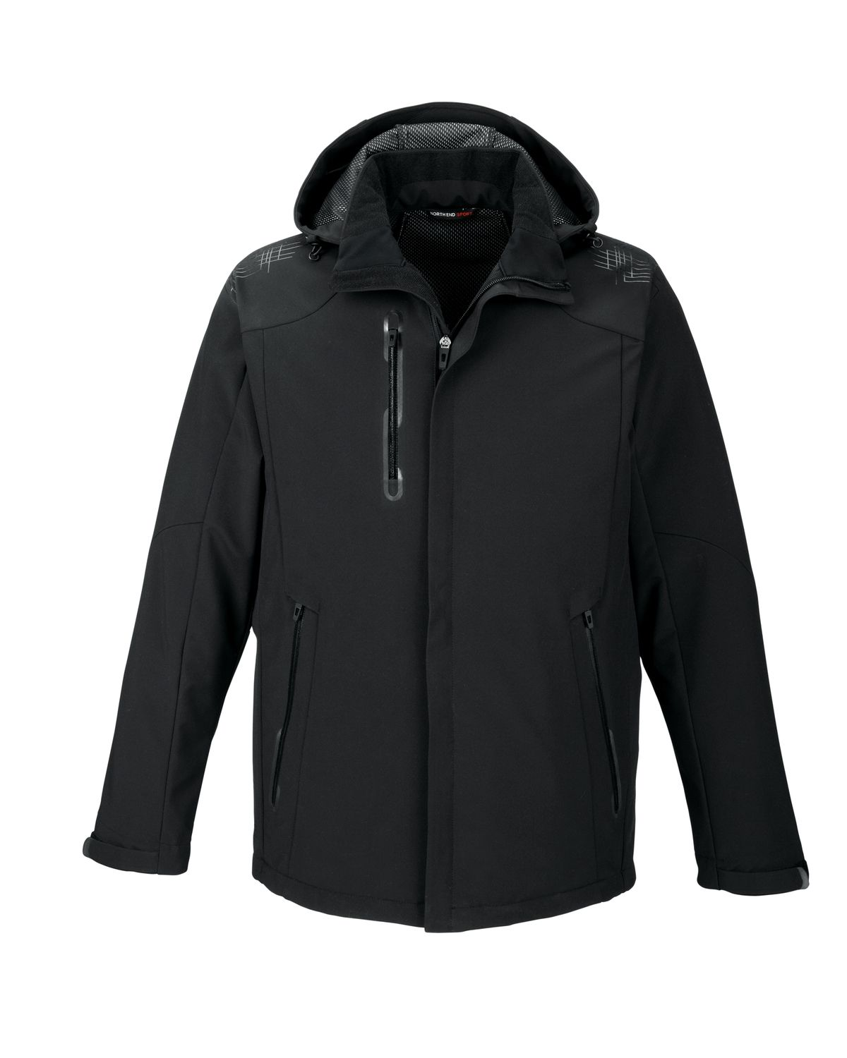 North End/Mens Insulated Detachable Hood Jacket