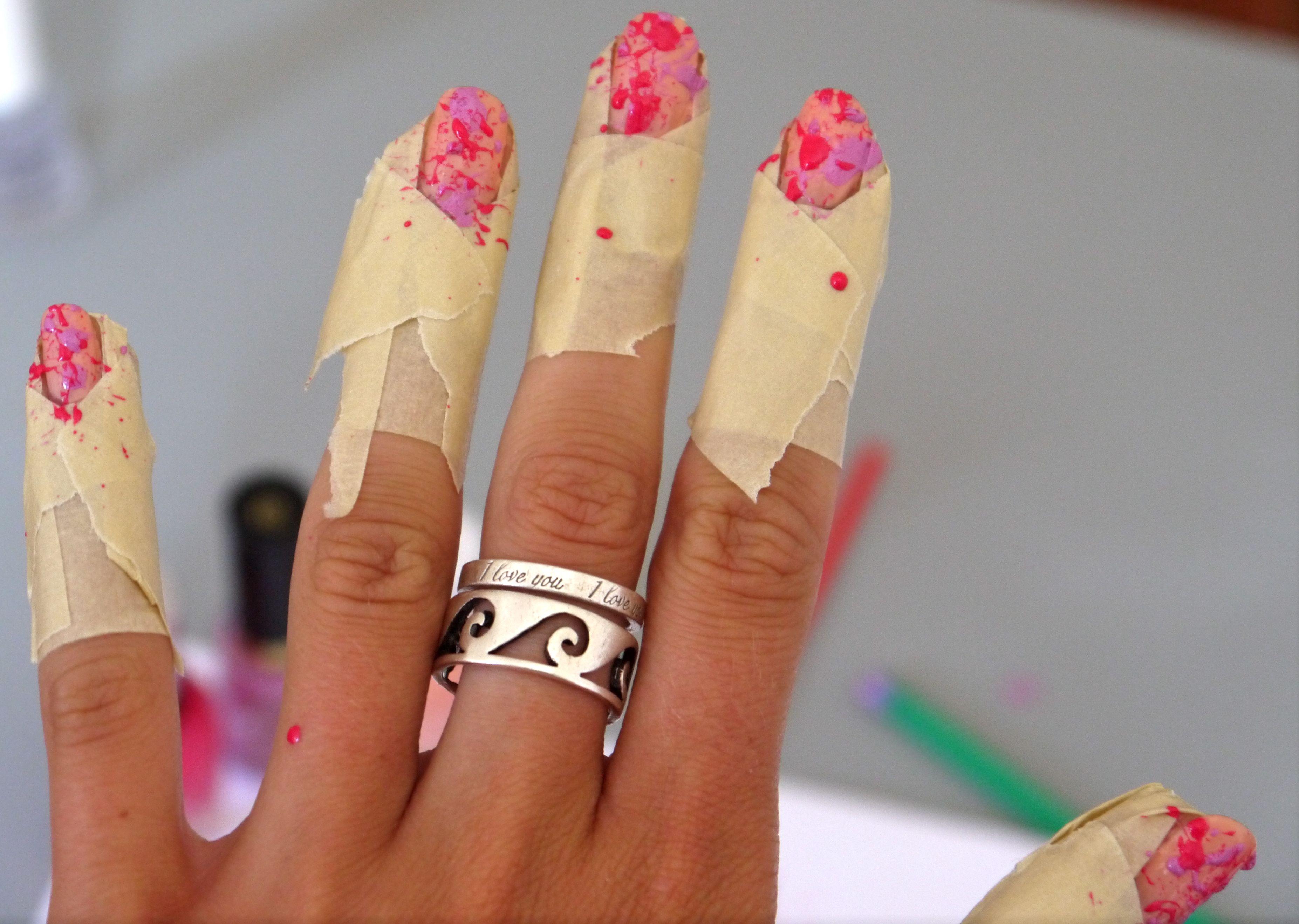 diy splatter nail polish | Style | Pinterest | Splatter nails