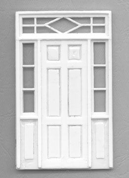 Nicely Detailed 1 48 Door With Side Panels And Transom Miniature House Model Trains Doors