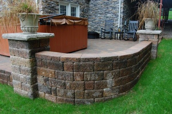 Brick Walls Landscaping Ideas Pictures | Brick Sitting Wall And Patio  Installation Chagrin Falls, OH