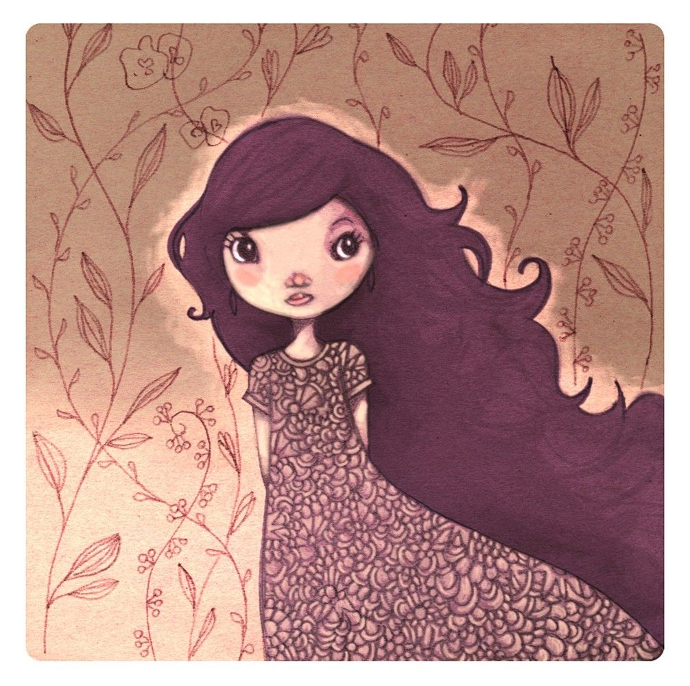 Miss Lou square PRINT 21cm 82 inch by matilou on Etsy