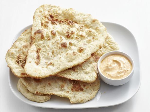 Get sesame flatbread recipe from food network breads rolls get sesame flatbread recipe from food network forumfinder Images