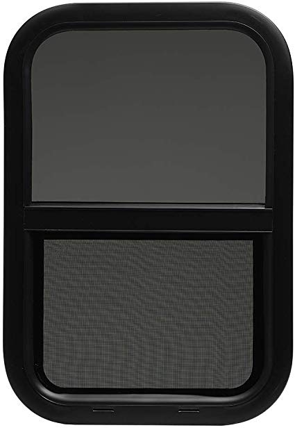 Amazon Com Toughgrade Vertical Sliding Black Rv Window 14 X 22 X 1 1 2 Includes Mounting Ring And Bottom Screen Automotive Mounting Rings Vertical Windows