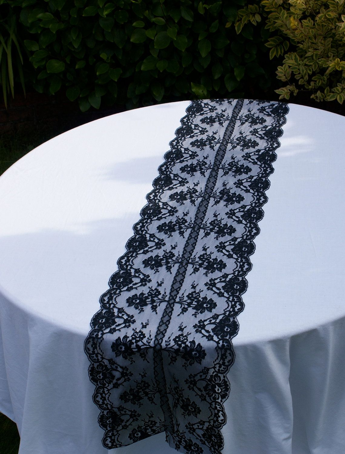 Runners For Weddings | Black Lace Table Runner For Your Special By  Littlewhiteboutique