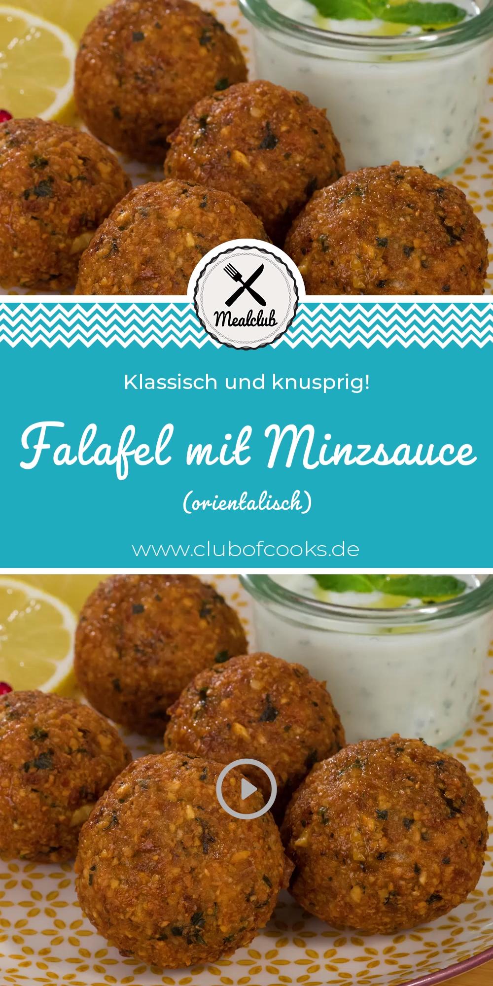 Falafel mit Minzsauce (orientalisch