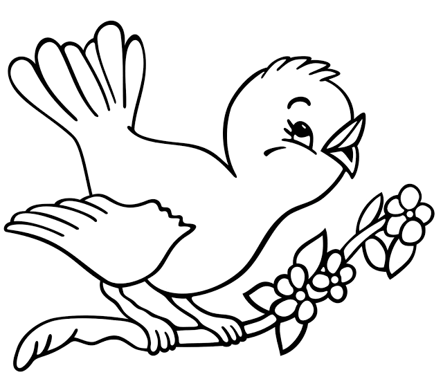 Pajarito | Naturaleza para bordar. | Pinterest | Bird coloring pages ...