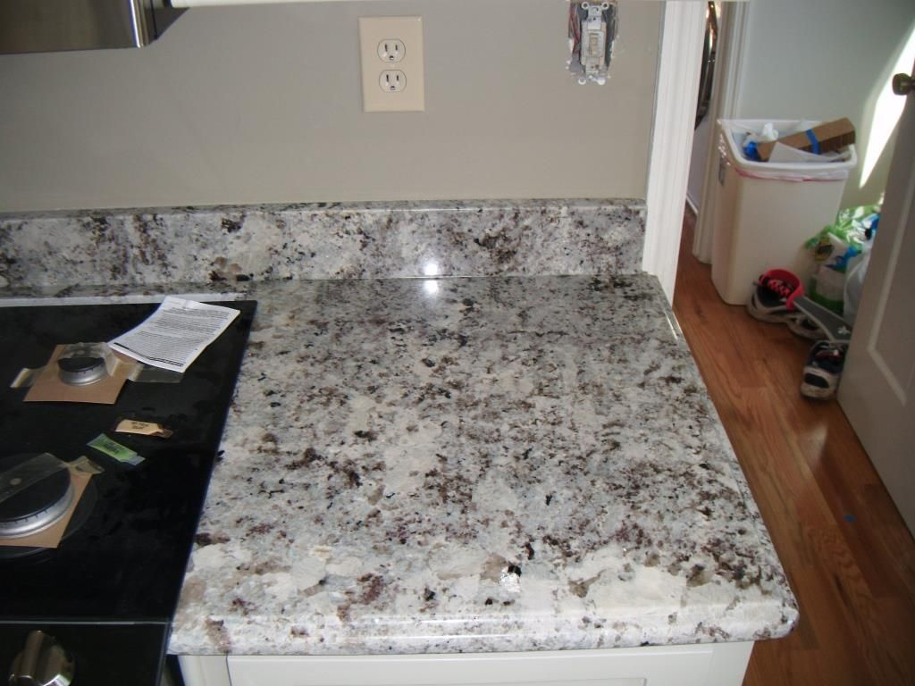 Alaska White Granite Fireplace And
