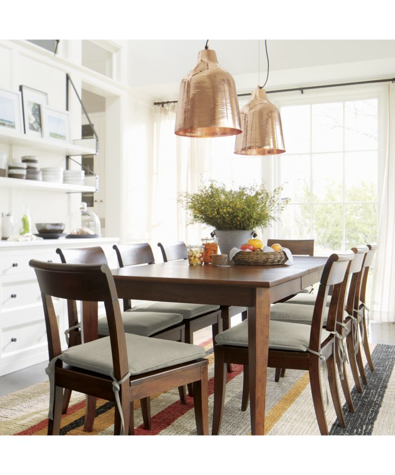 Cabria Honey Brown Extension Dining Table Reviews Crate And Barrel Dining Table Dining Room Design Dining Chairs