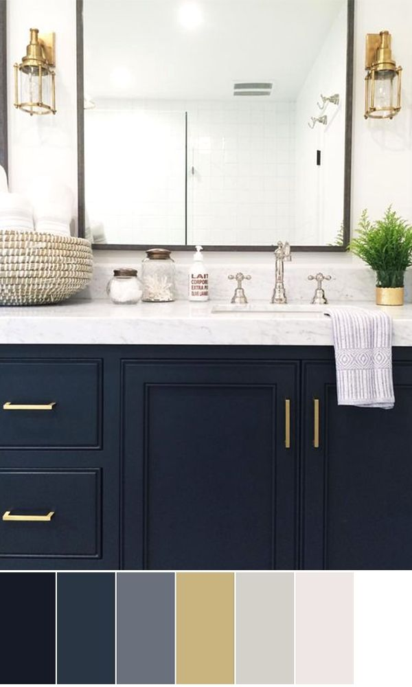 Modern Bathroom Cabinet Decorating #diybathroom in 2020 ...