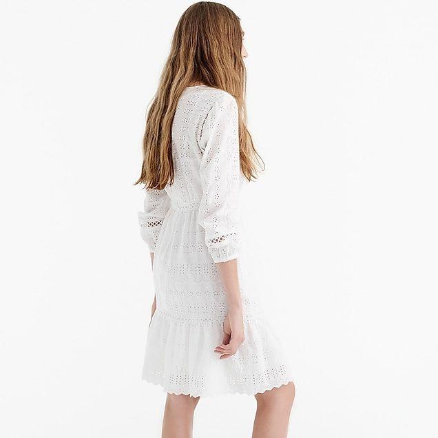 63aa2223d08 women s eyelet flutter-hem dress - women s dresses