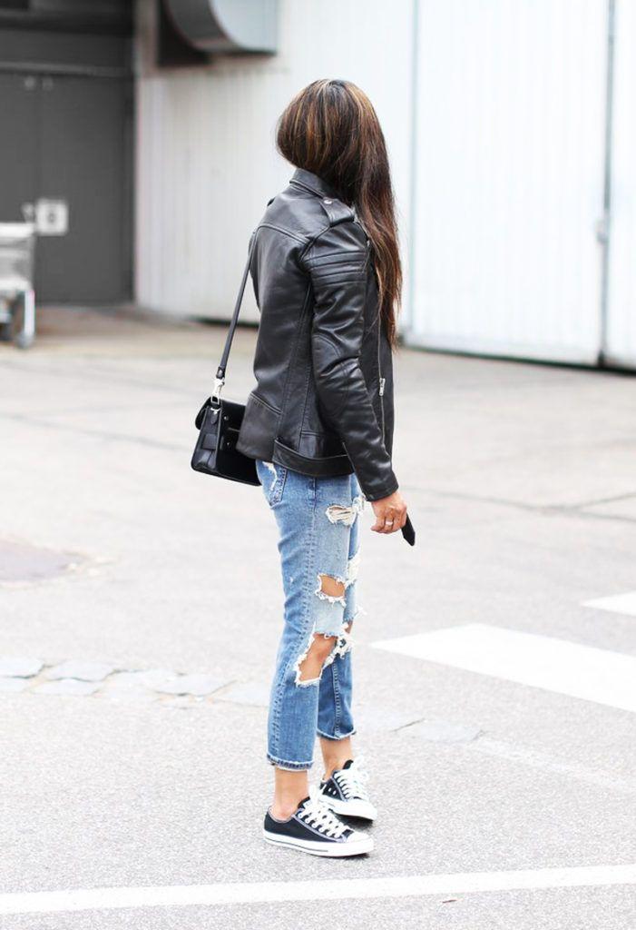 a41084593333 Via Laura Dittrich Jacket  BLK Denim, Sneakers  Converse Sneakers, Jeans   Zara