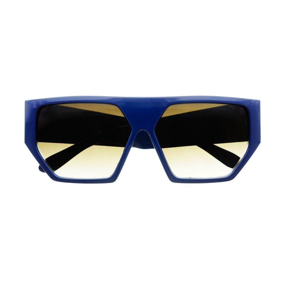 Unique Shape Retro Flat Top Aviator Sunglasses Shades FT22