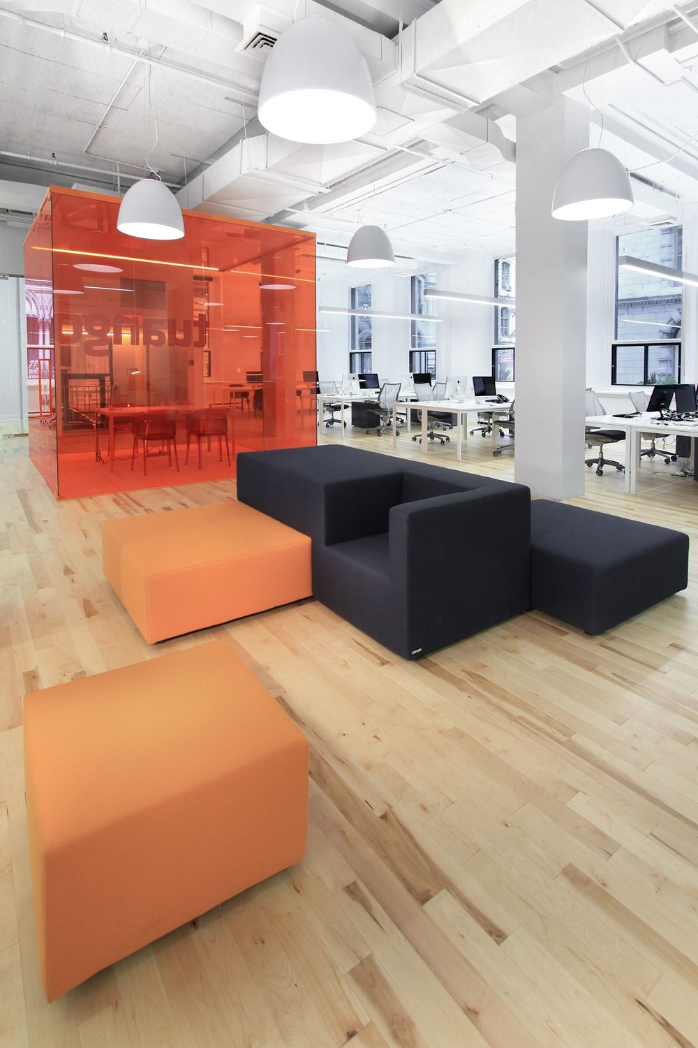 Mixture of different lights give different space different - Signe different open office ...