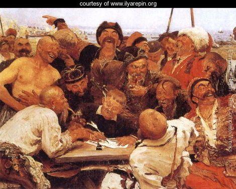 The Reply of the Zaporozhian Cossacks to Sultan of Turkey - Ilya Efimovich Efimovich Repin - www.ilyarepin.org