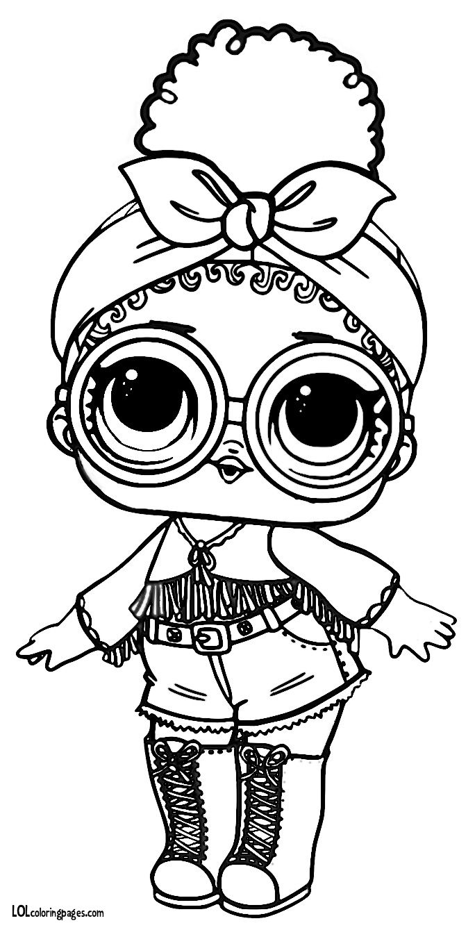 Foxy series 3 l o l surprise doll coloring page