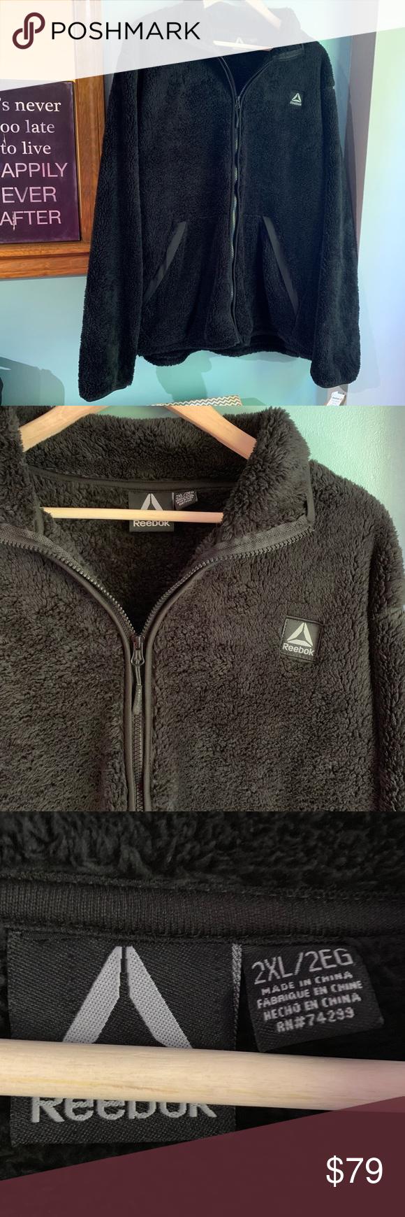 Reebok Fleece Jacket New With Tag S Full Zip Up Fuzzy Fleece Jacket Bundle With Other Items For Better Deals Reebok Ja Fleece Jacket Jackets New Reebok [ 1740 x 580 Pixel ]