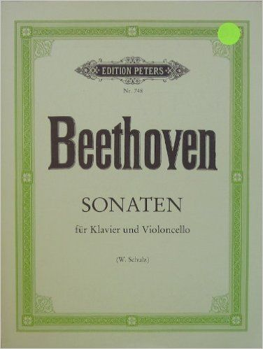Beethoven Sonatas For Piano And Cello Sonaten Für Klavier