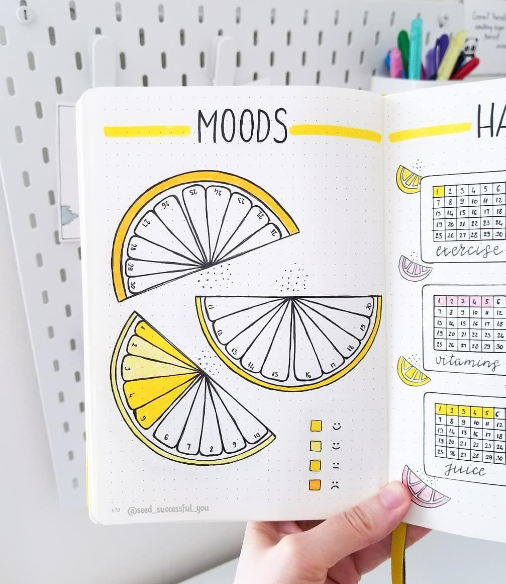 Bullet journal mood tracker by ig@seed_successful_you #bulletjournals