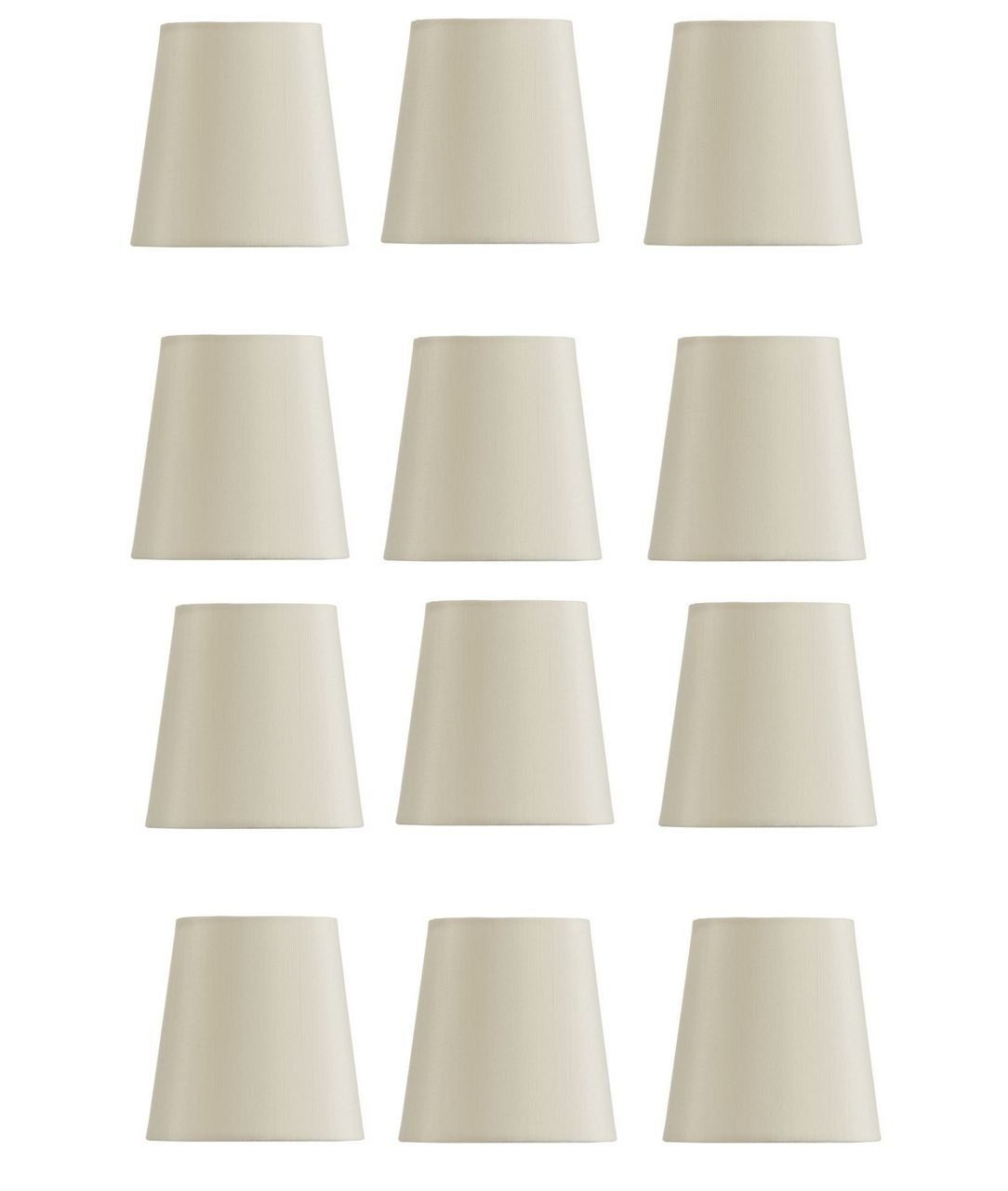 Mini chandelier shades clip on small lamp shade set of twelve white mini chandelier shades clip on small lamp shade set of twelve white linen you arubaitofo Images