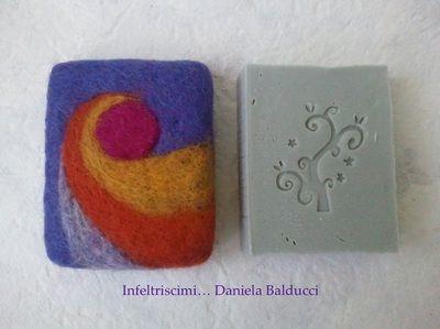 Galleria - Daniela Balducci... Infeltriscimi, feltro per passione -sapone col feltro sopra