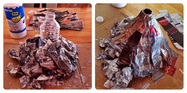 Easy to make paper mache volcano