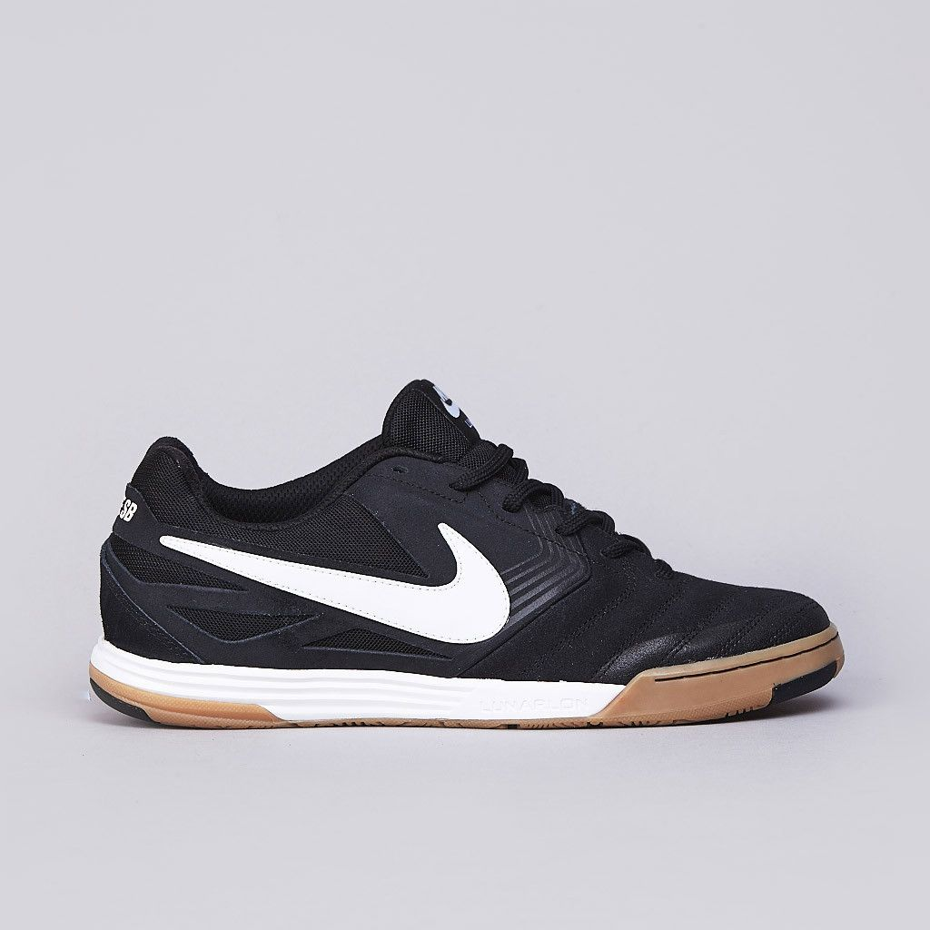 sports shoes dfca5 c25f1 Nike SB Lunar Gato Black   White - Gum Medium Brown