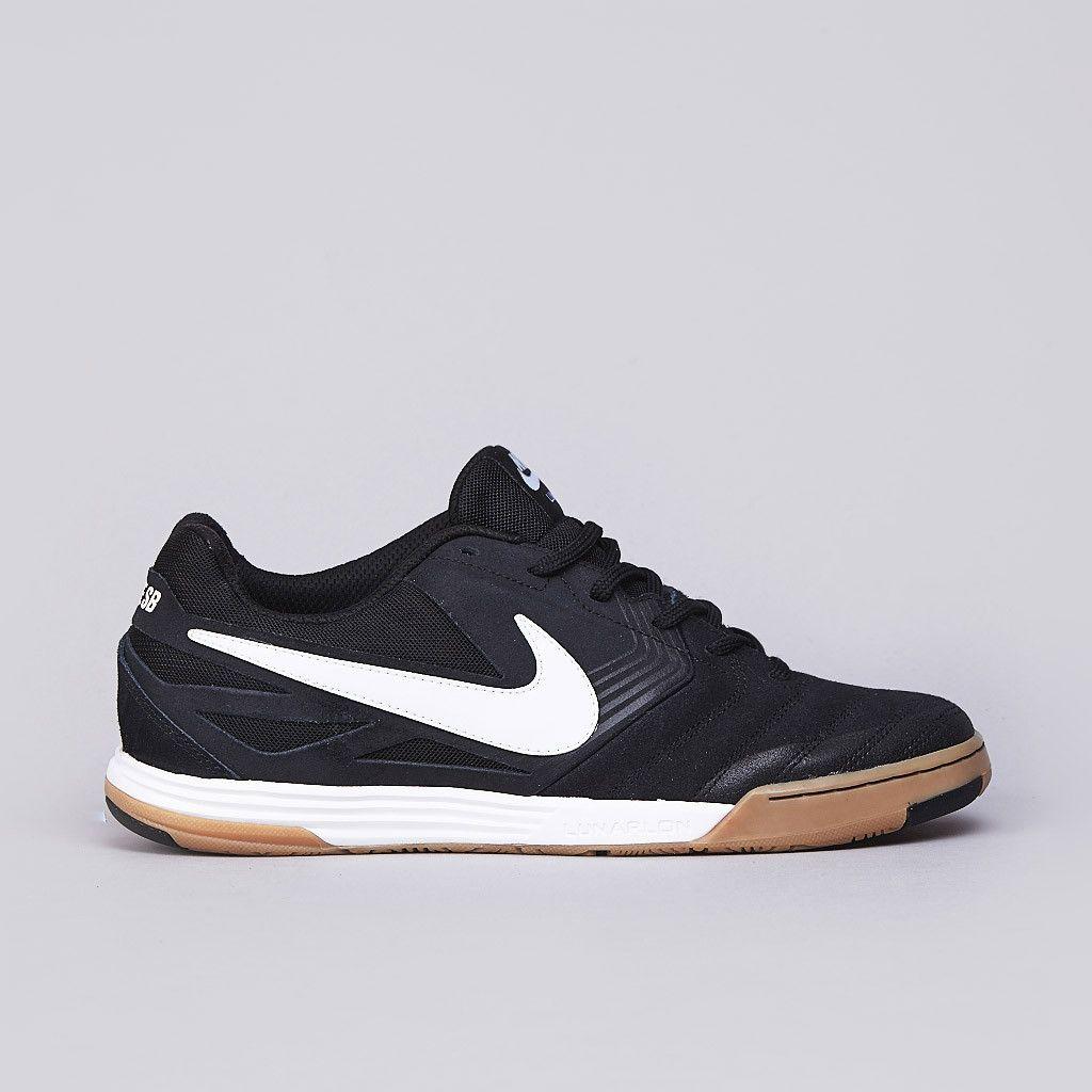 13a347cfb6f41 Nike SB Lunar Gato Black / White - Gum Medium Brown | Sneakerology ...