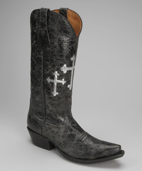 67b184a6466 Take a look at this Johnny Ringo Boots Barn Black Leather T-Toe ...
