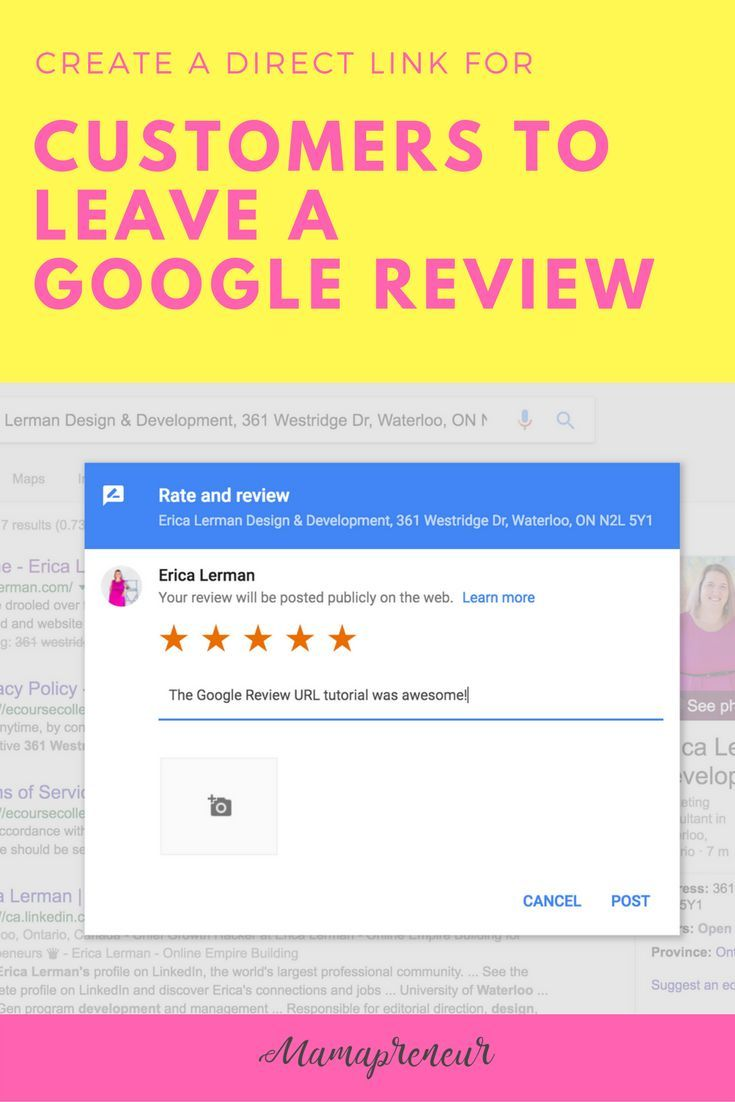 Create a Direct Link for Customers to Leave a Google Review