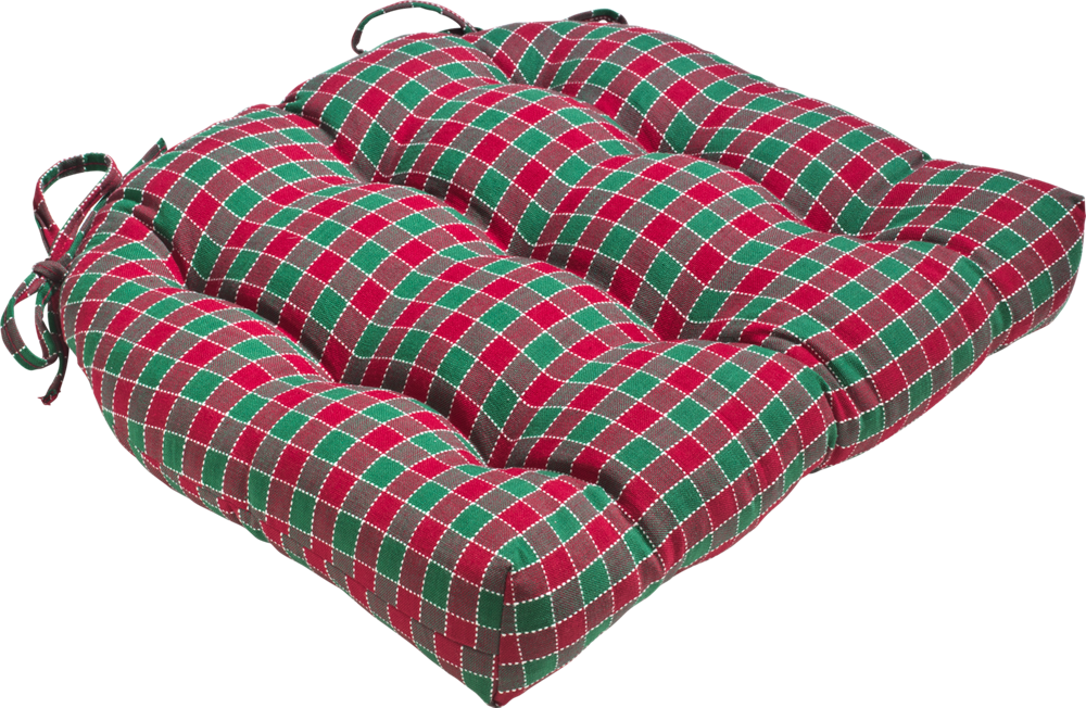 Cranberry Hunter Plaid Dining Chair Cushions And Rocking Chair Pads  #christmas #red #green