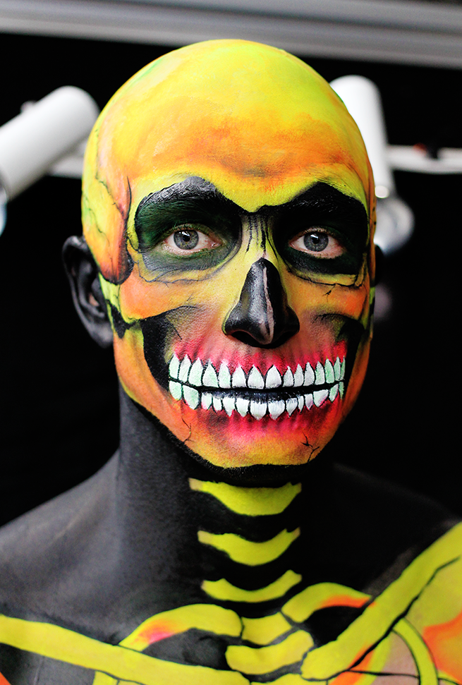 IMATS LONDON 2015 | Day Two Neon Skeleton with Anna Lingis | LIFE ...