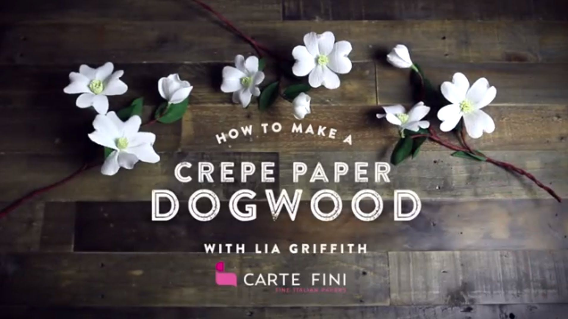 Learn How To Make These Pretty Dogwood Branches To