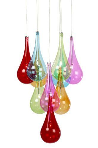 Endon Lighting Niro Multi Coloured Glass Chandelier Ceiling Light 10multi Ebay