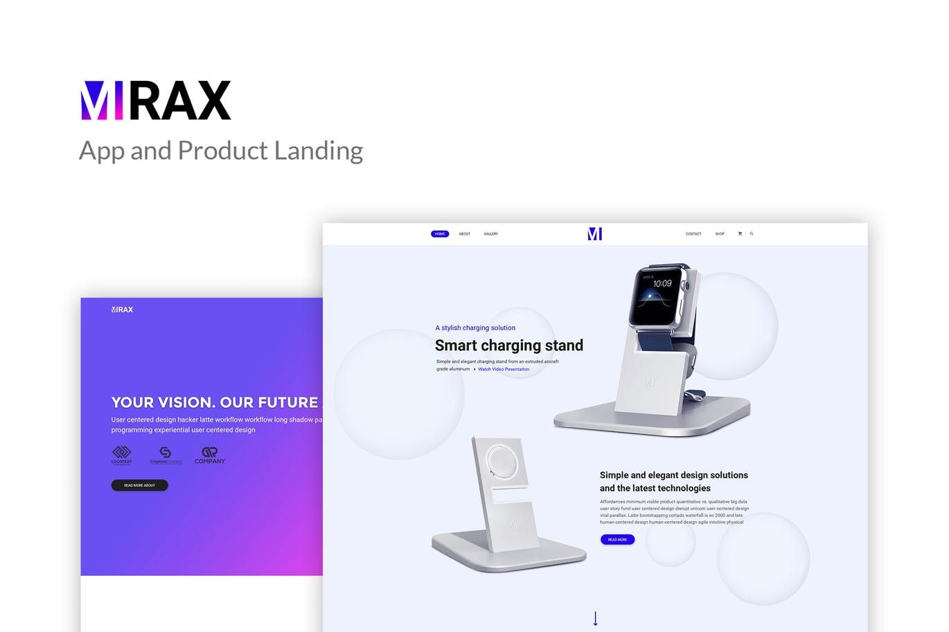 Mirax App Product Landing Page Template Psd Landing Page