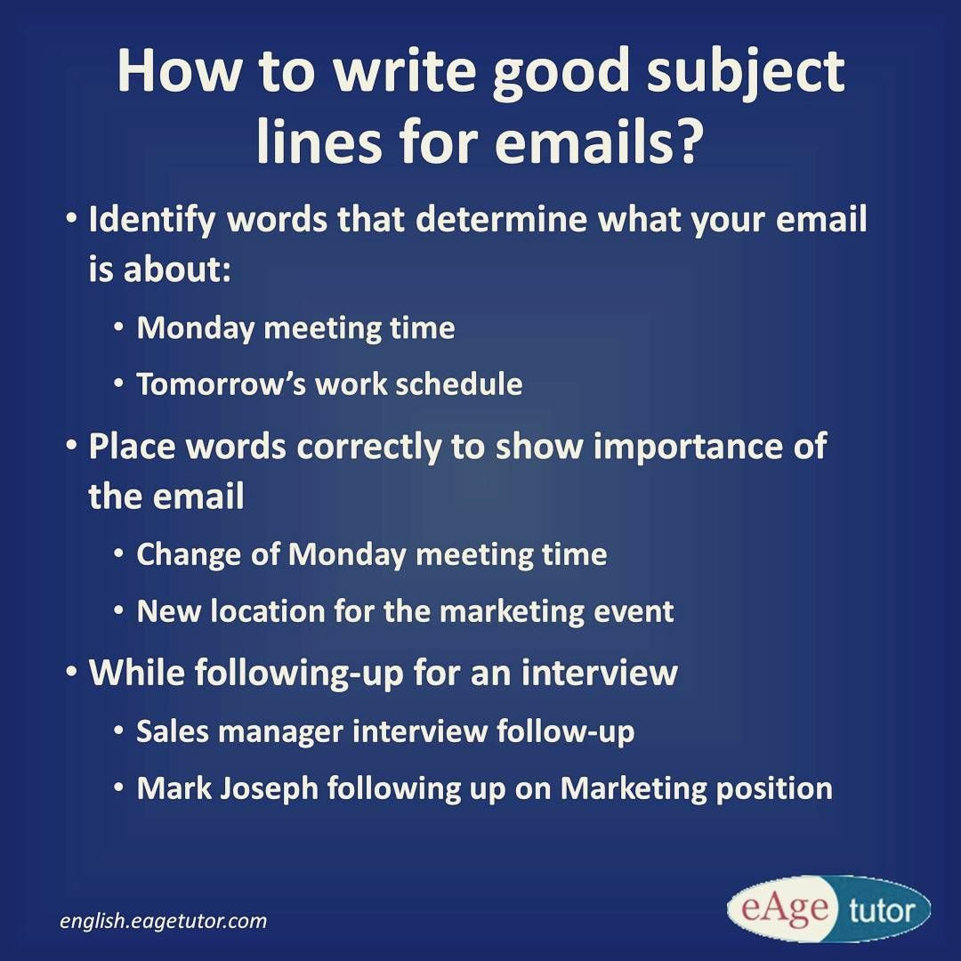 How to write a good email subject line