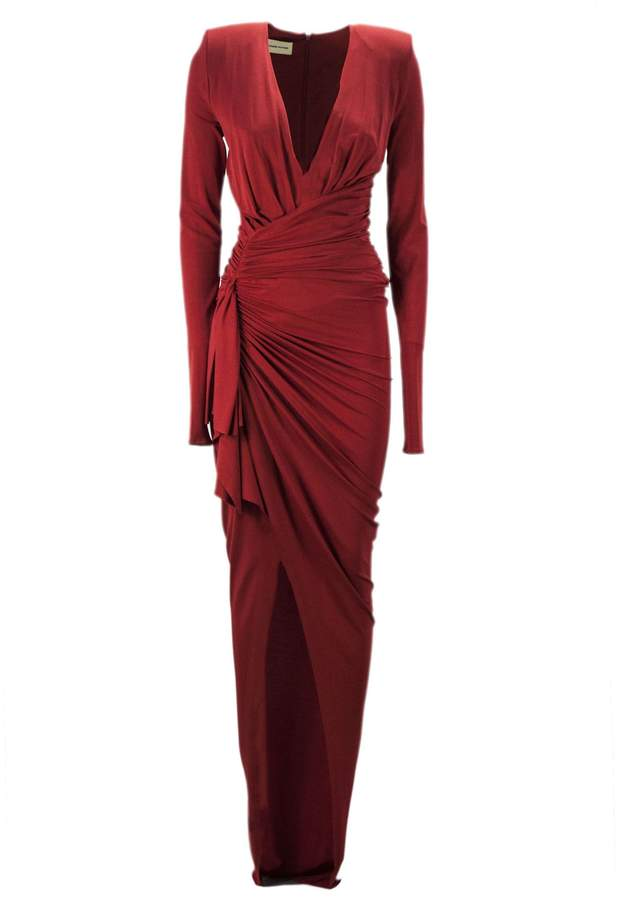 38864fd4ca Alexandre Vauthier Red Stretch Jersey Long Dress