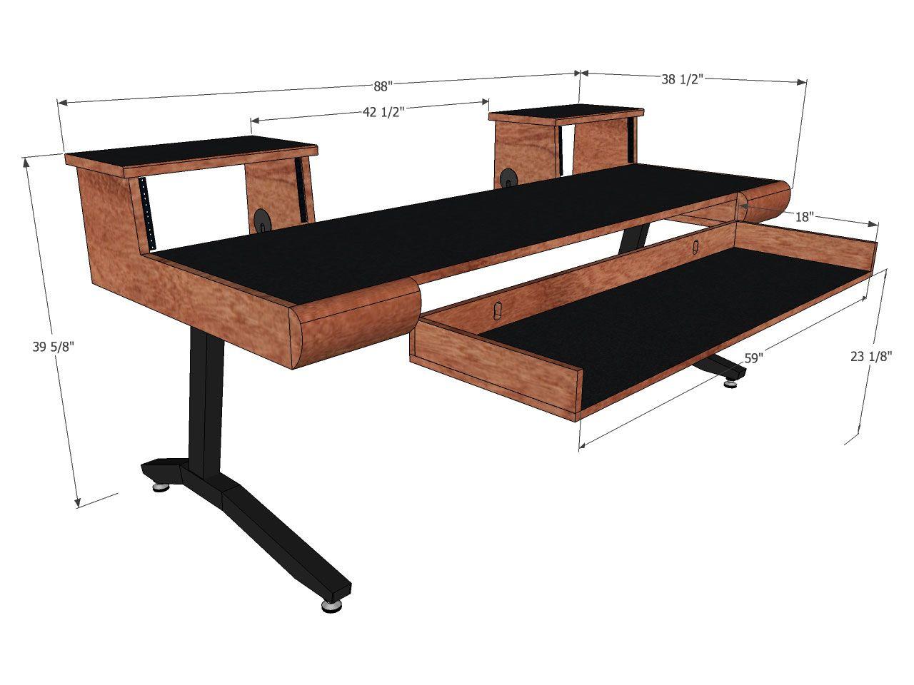 Scs keyboard desks 88 key sound construction supply - Meuble de studio d enregistrement ...