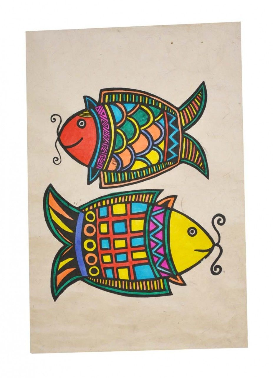 Two fish symbol lokta paper buddhist poster hindu symbols the two fish symbol is one of the eight auspicious signs of tibetan buddhism also biocorpaavc Choice Image
