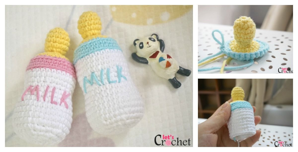 FREE Feeding Baby Bottle Amigurumi Crochet Pattern | crochet ...