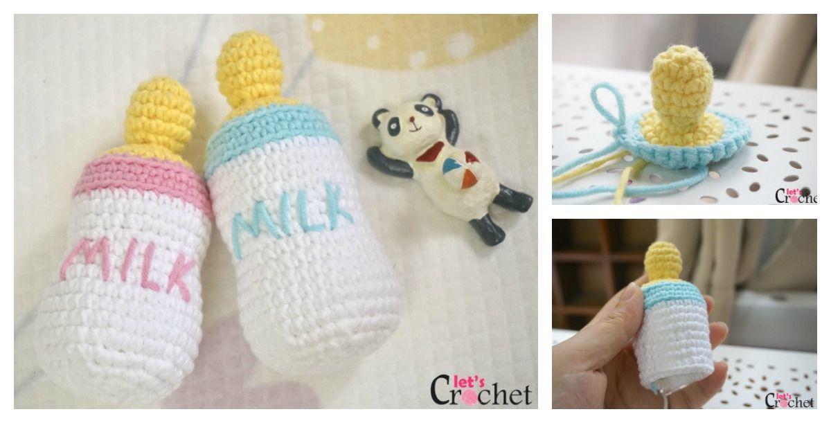 Free Amigurumi Pattern Baby Love : Free feeding baby bottle amigurumi crochet pattern amigurumi love