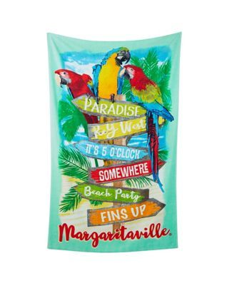 Margaritaville jacquard parrot beach towel patio pool party margaritaville jacquard parrot beach towel publicscrutiny Image collections