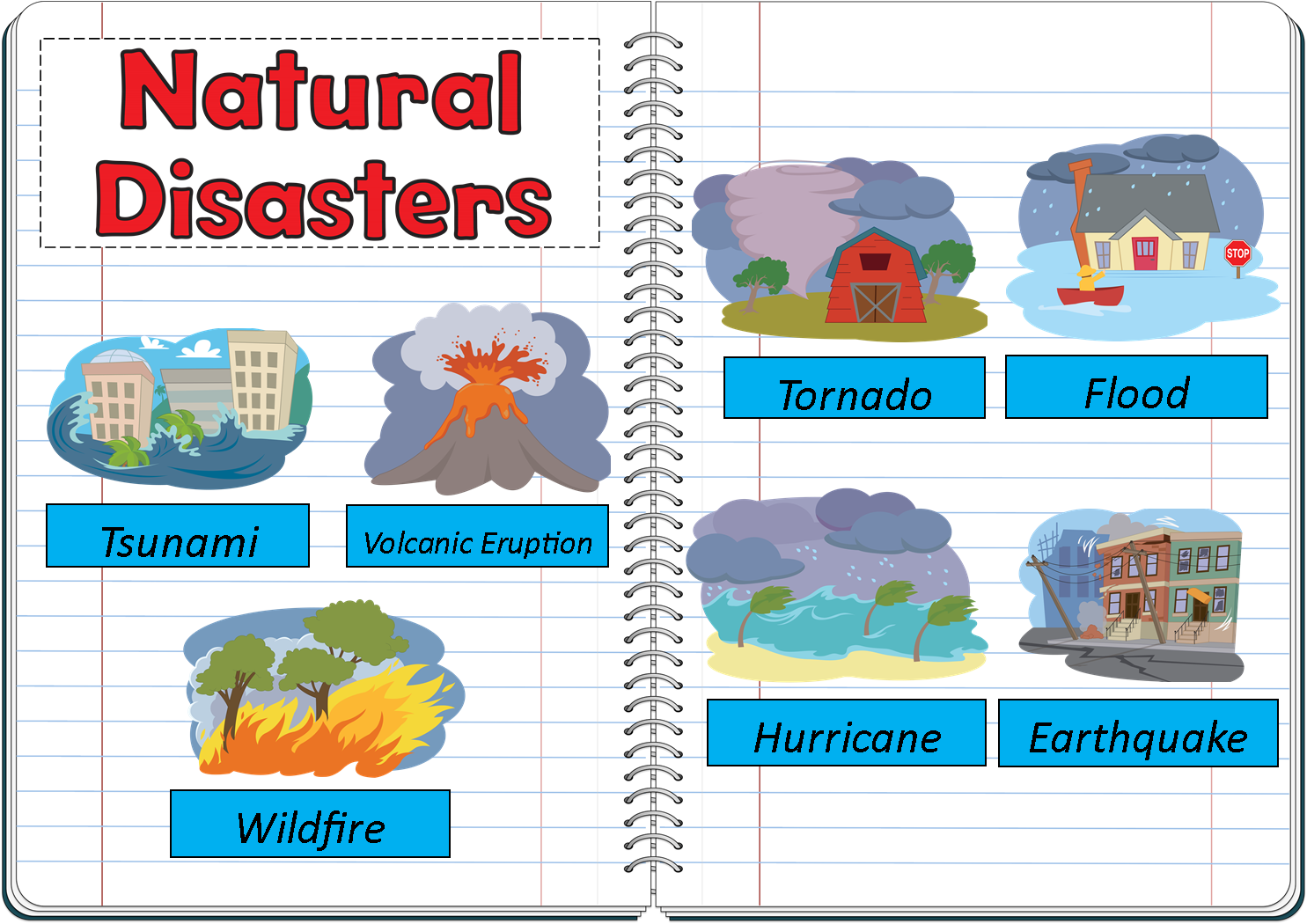 Natural Disasters Interactive Notebook