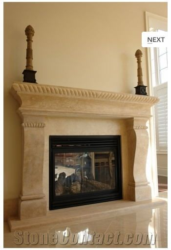 Florence Italian Antique Fireplace Mantel Crema Fiore Beige Limestone Fireplace Mantel Fireplace Mantels For Sale Fireplace Antique Fireplace Mantels