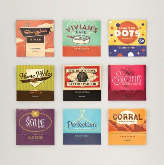 vintage style matchbooks awesome design inspiration design rh pinterest com